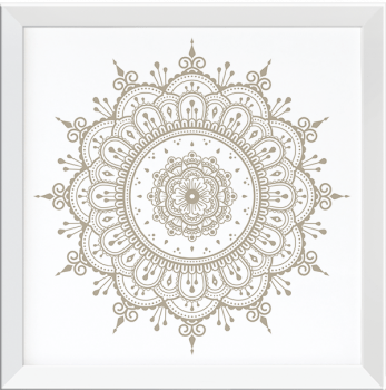 Quadro Decorativo Mandala Creme