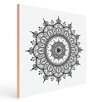 Quadro Decorativo Mandala Preta