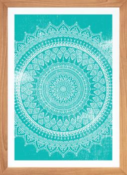 Quadro Decorativo Mandala Turquesa