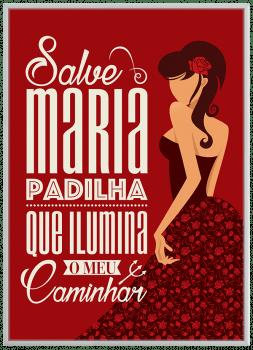 Quadro Decorativo Umbanda Maria Padilha Pombogira