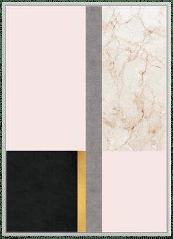Quadro Decorativo Abstrato Geométrico Mármore