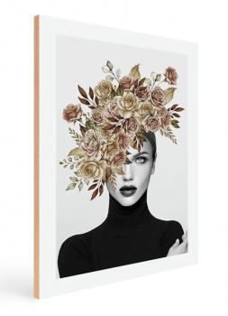 Quadro Decorativo Mulher Flores na cabeça