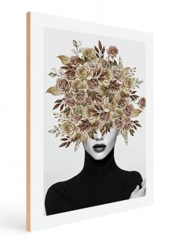 Quadro Decorativo Mulher Flores Na Cabeça 2