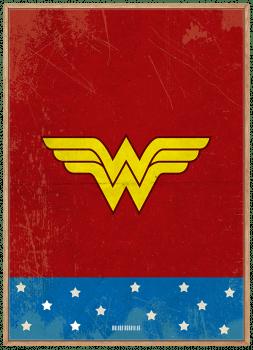 Quadro Mulher Maravilha - super-herói