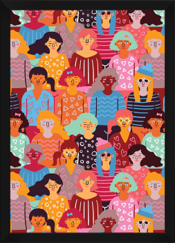 Quadro Decorativo Mulheres Unidas - Feminismo