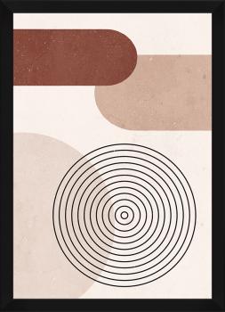 Quadro Decorativo Abstrato Geométrico Linhas Nude 2