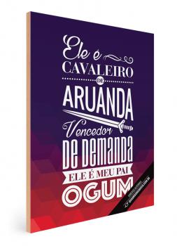 Quadro Decorativo Umbanda Orixá Ogum - Cavaleiro de Aruanda