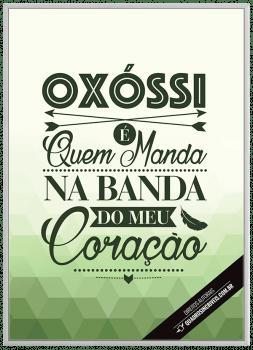 Quadro Decorativo Umbanda Orixá Oxóssi - Fundo Branco