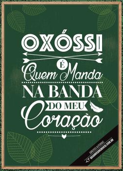 Quadro Decorativo Umbanda Orixá Oxóssi - Fundo Verde