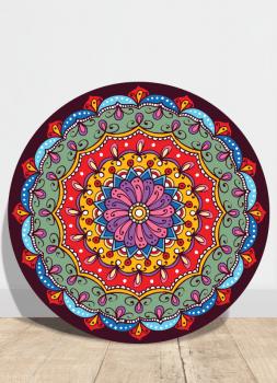 Quadro Mandala Colorida étnica Placa Decorativa