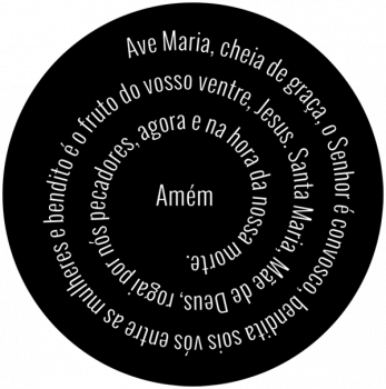 Quadro Decorativo Oração Ave Maria Espiral Placa Decorativa