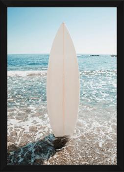 Quadro Decorativo Paisagem Prancha de Surf Mar Praia