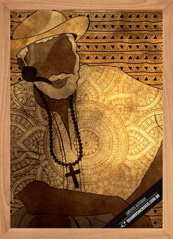 Quadro Decorativo Umbanda Preto Velho