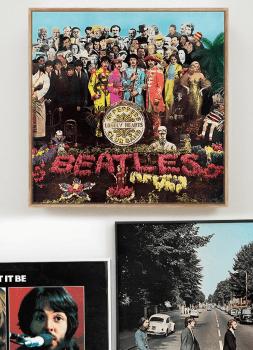 Quadro Beatles Sgt. Peppers - Rock Vinil na Parede