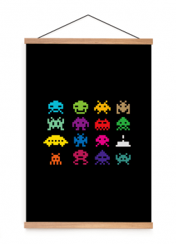 Quadro Decorativo Space Invader