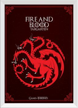 Quadro Decorativo Game of Thrones Targaryen