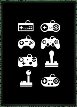 Quadro Decorativo Videogames Controles