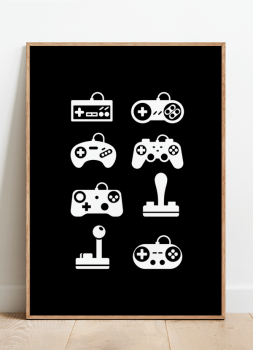 Quadro Videogames Controles