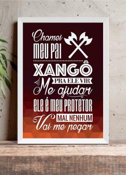 Quadro Decorativo Umbanda Orixá Xangô - Chamei meu Pai