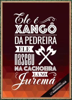 Quadro Decorativo Umbanda Orixá Xangô
