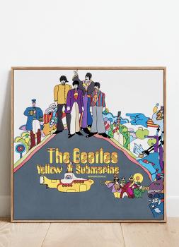 Quadro Decorativo Beatles Yellow Submarine - Rock Vinil na Parede