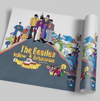 Quadro Beatles Yellow Submarine - Rock Vinil na Parede