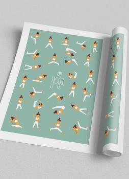 Quadro Decorativo Yoga Posturas