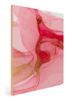 Quadro Decorativo Abstrato Mármore Rosa Dourado
