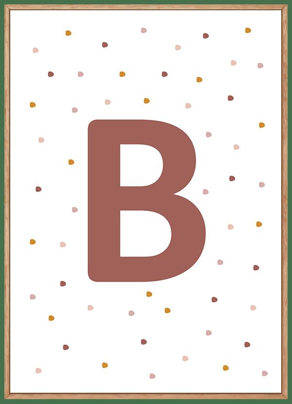 Quadro Decorativo Infantil Letra Personalizada no Céu Rosa