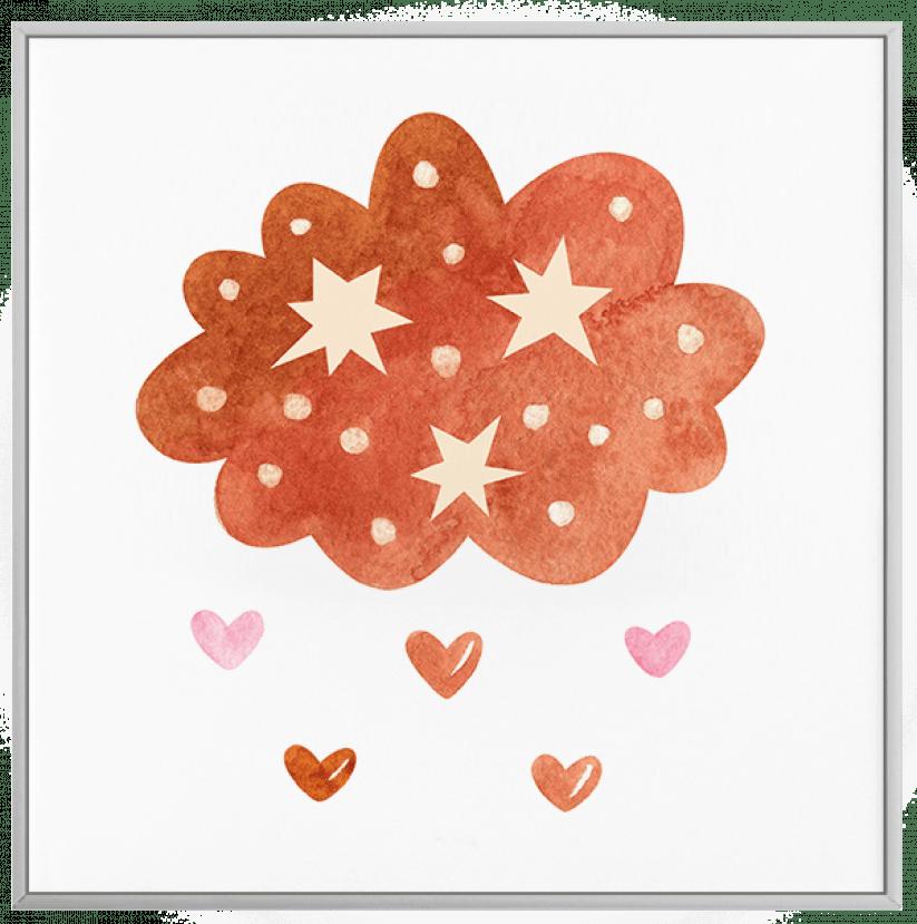 Quadro Decorativo Infantil Nuvem Laranja