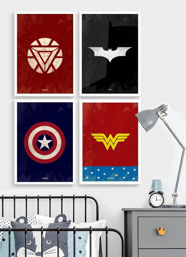 Quadro Decorativo Batman - super-heroi