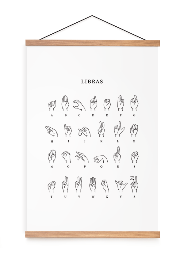 Quadro Decorativo Libras Alfabeto