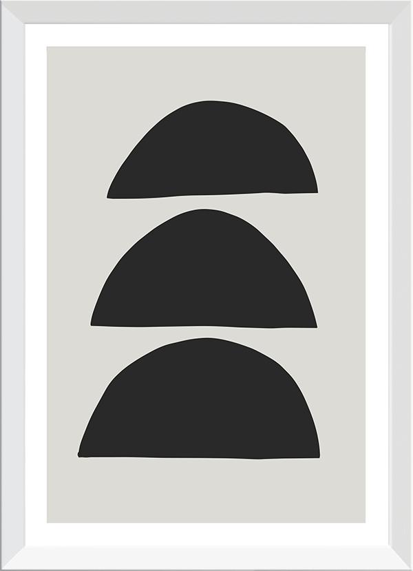 Quadro Decorativo Abstrato Forma Semicírculo