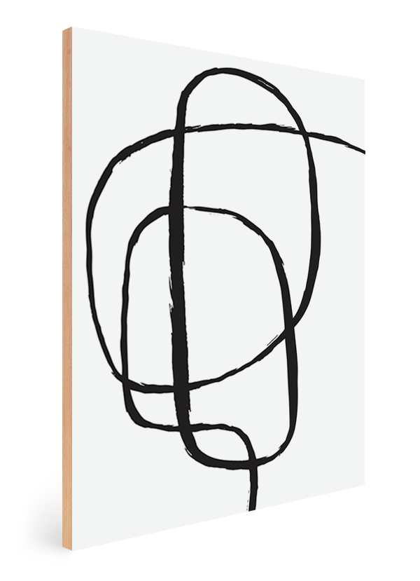 Quadro Decorativo Abstrato Linha Infinita