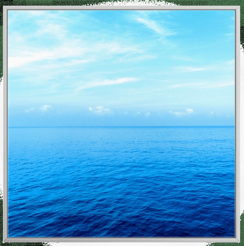 Quadro Decorativo Paisagem Mar Azul Tranquilo 1