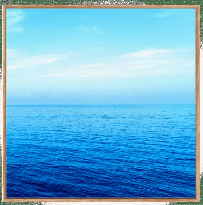 Quadro Decorativo Paisagem Mar Azul Tranquilo 2