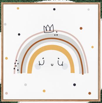 Quadro Infantil Arco-Íris - Claro Neutro
