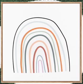 Quadro Decorativo Infantil Arco Iris - Série Nude