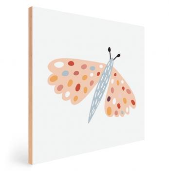 Quadro Decorativo Infantil Borboleta - Série Nude