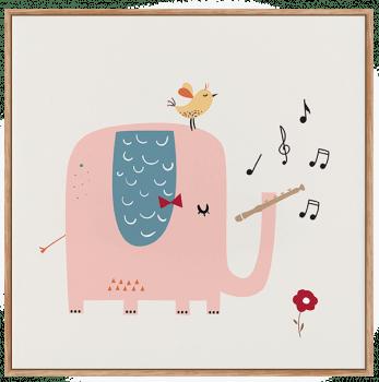 Quadro Infantil Elefante Musical 2