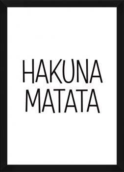 Quadro Decorativo Infantil Hakuna Matata Frase
