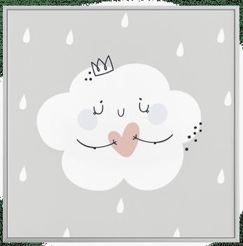 Quadro Decorativo Infantil Nuvem - Claro Neutro