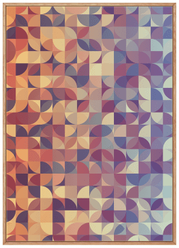 Quadro Decorativo Abstrato Geométrico Círculos Laranja
