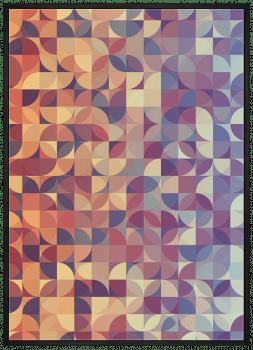 Quadro Abstrato Geométrico Círculos Laranja