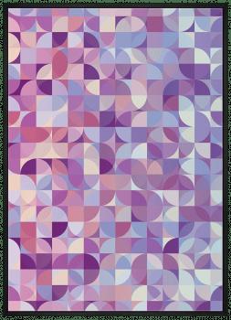Quadro Abstrato Geométrico Círculos Roxos
