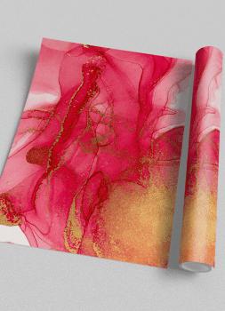 Quadro Decorativo Abstrato Mármore Rosa Dourado 2