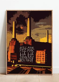 Quadro Decorativo Pink Floyd Animals