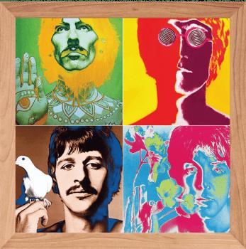 Quadro Decorativo Beatles Psicodélico