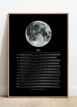 Quadro Decorativo Calendário Lunar 2021