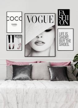 Quadro Coco Chanel Moda Fashion